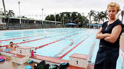 Margaret McKay-Lownes says the Maryborough Swimming Club is unhappy with plans to replace the city's 50m pool.