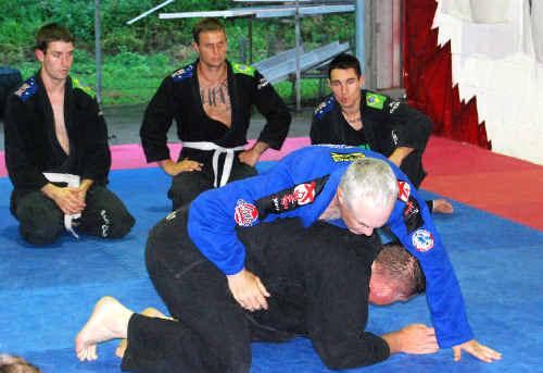 Machado Brazilian Jiu Jitsu master John B Will shows Diamond Martial Arts students some of his advanced techniques that he's learned around the world.