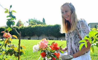 Kerrie Crossland has thanked Biomass and its soil for the magnificent roses in her garden.