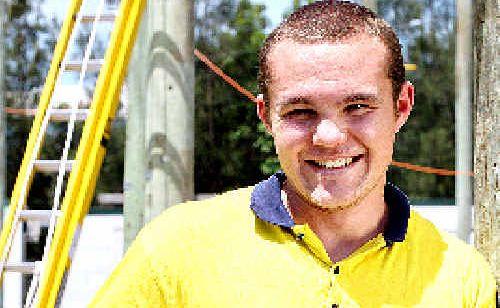 Corindi Beach's  Jackson Molles has started an apprenticeship.