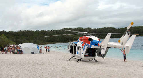 The cash-strapped AGL Helicopter Rescue was called into action more than 150 times on the Fraser Coast in 2009, an average of three times a week.