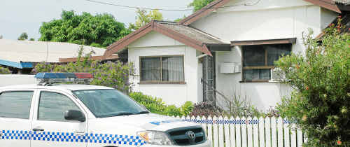 The house in Korah Street, Bowen, where the body of a 67-year-old woman, who is believed to have died several weeks ago, was found.