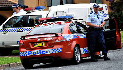 Police attend a stabbing in Toormina.