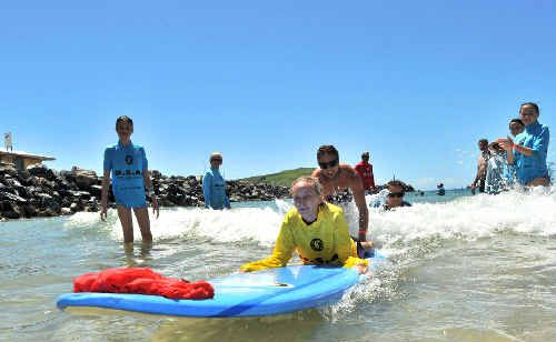 The disabled surfers are holding their final day of the summer this Saturday at Scotts Head. TREVOR VEALE