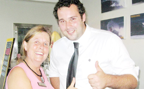 Clinton Ludlow is 2010 president of the Brunswick Heads Chamber of Commerce, pictured here at the chamber's AGM with Suzanne Eatwell.