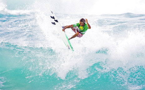 Nick Colby of Suffolk Park in action. Nick, as well as hundreds of other surfers, will compete in this year's Ben King Memorial surfing event in Byron Bay at Easter.