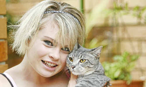 Renae Keyes and little Tinkerbell were reunited after the RSPCA linked the pair via a microchip.