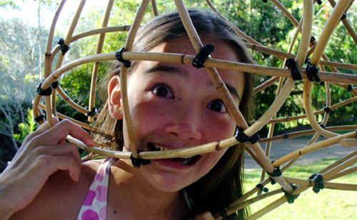 Emilia Cilento enjoys checking out this cane creation.