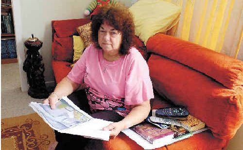 Marge Graham is frustrated by the lack of help she has received from Lismore City Council to fix a flooding problem at her Casino Street home in South Lismore.
