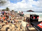 Thousands turned out yesterday to see surfers like Andy Irons in action at Snapper Rocks.