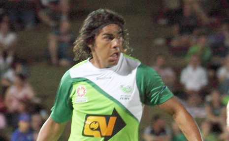 Socceroo David Williams is one of two North Queensland Fury players who will visit the Whitsundays this weekend.