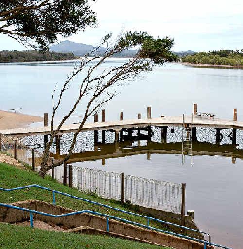 TRAGIC: The Mylestom tidal pool where a toddler drowned.