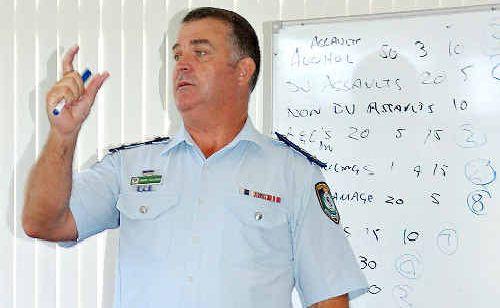 POLICE NUMBERS OKAY: Coffs Clarence Area Commander Supt Matt Holahan.