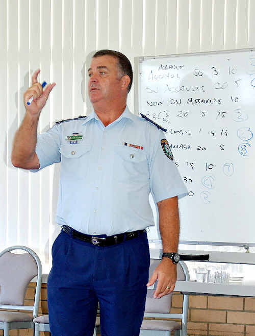 POLICE NUMBERS OKAY: Coffs Clarence Area Commander Supt Matt Holahan.