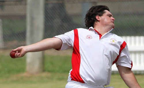 South's Tom Kroehnert will swap ball for bat as his team chases runs at Harwood.