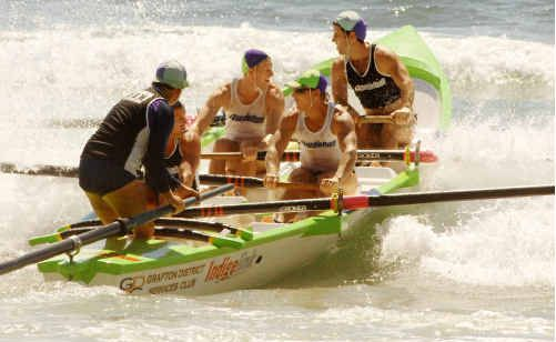 Minnie Water-Wooli are chasing open and reserve grade titles in today's finals of the North Coast Surfboat Series at Woolgoolga.