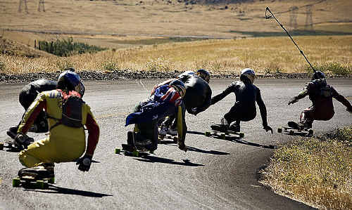 DANGEROUS?: Following a collision between a downhill longboarder and a mini bus, longboarders have claimed the sport is safe.