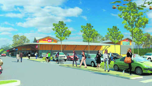 An artist's impression of the proposed Supa IGA Centre at Wollongbar.