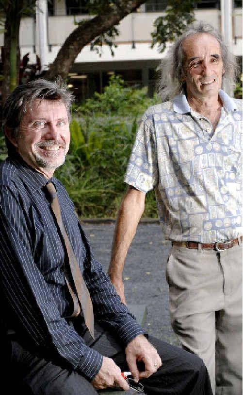 Mullumbimby High School principal Ian Graham (left) with mentoring program facilitator Steve Strong.