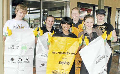 McDonald's staff (from left) Douglas Smith, Briony Mills, Swazzy Naidu, Emma Clarke, Clodagh Sinnott and Stephanie Clarke.