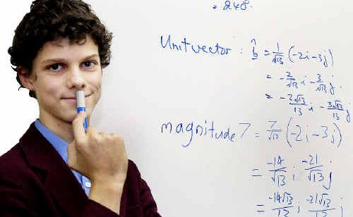 World Maths Day champion and Fraser Coast Anglican College student David Andersen.