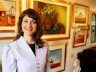Home is where the art is for Tiffany Jones, who owns an art gallery at Buderim on the Sunshine Coast.