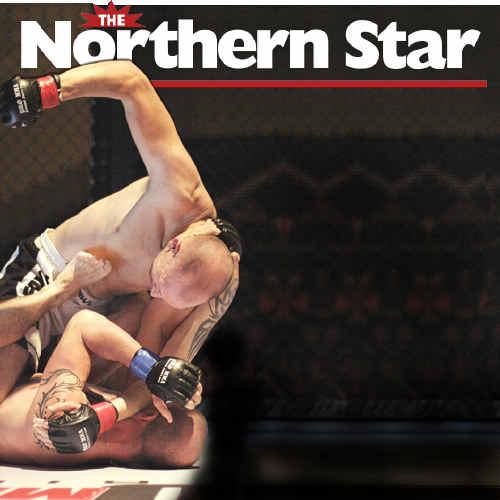 DECKED: Brett Balkie, of Alstonville, pummels an opponent during a recent event in Toowoomba. Scott Clark