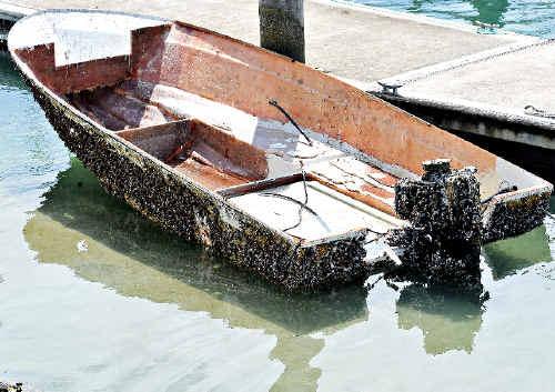 Abandoned boat.