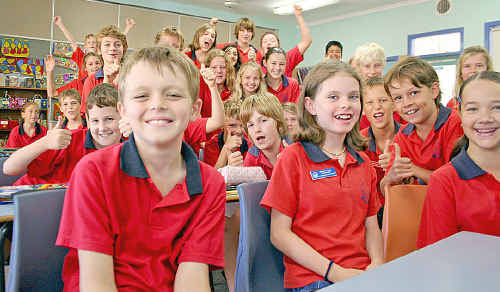 Alstonville Public School's 5/6W class came first in Australia in the recent World Maths Day competition. Andrew Entwhistle (front) came 88th in the world.