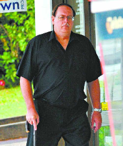 REMORSEFUL: Toormina's John Edward Liljestrom walking into Coffs Harbour District Court yesterday.