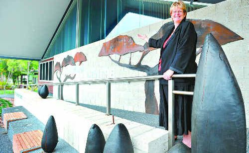 A JOB WELL DONE: Jenni Eakins at the Cavanbah Centre, her pride and joy.