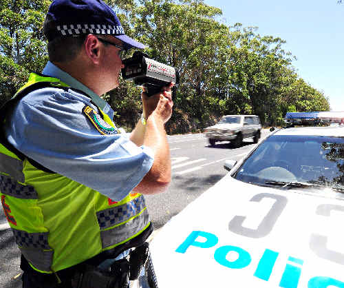OUT IN FORCE: Police are targeting speeding and other dangerous driving activities.