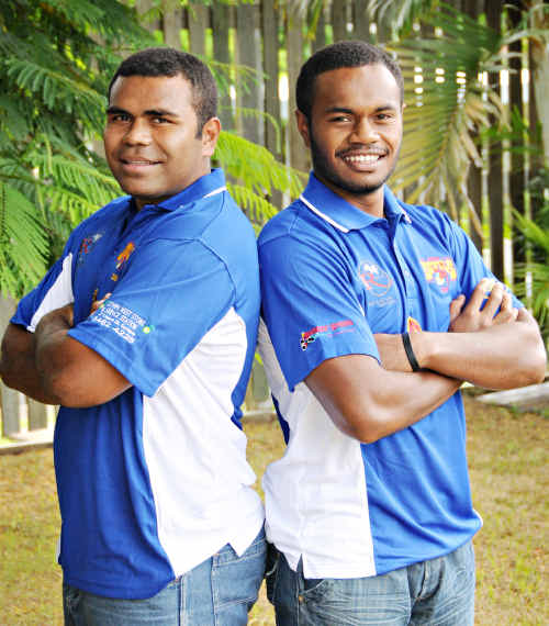 NEW ADDITIONS: The latest recruits to join the Gympie Devils are Fiji's Josh Koroibulu and Ratu Viravu. The pair arrived in Australia Monday and is looking forward to the challenge against the Kawana Dolphins.