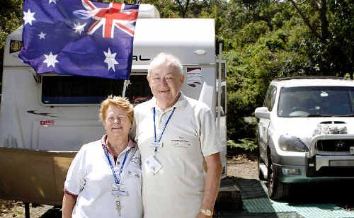 Jeanette and Rob Brown of Winmalee in the Blue Mountains are at Lennox Head for the caravan rally.