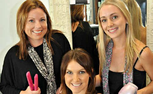 Hairdressers (from left) Michelle Shanks, Catherine Beasley and Jessica Sprecak.