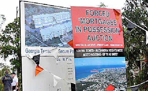 Prime Alexandra Headland land failed to sell yesterday.