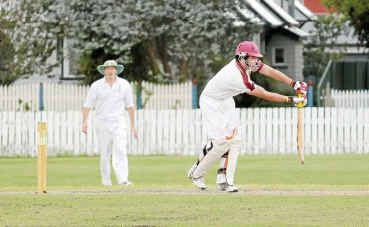 Paul Cantwell shows his style in an outstanding all-round effort for Wheatvale in the A-grade preliminary final.