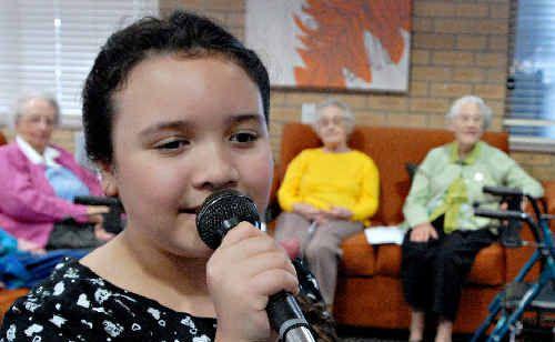 Coffs Coast students love entertaining for Seniors Week.