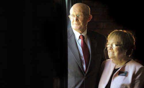 Elder ElRay and Sister Deon Hendricks, from Boise, Idaho, are performing voluntary work in Grafton.