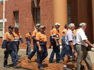 Workers in orange the new trend