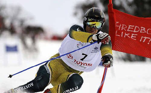Gold in sight: A file photo of Marty Mayberry, who is in Vancouver at the Paralympics where he will have his first run down the slalom course this morning.