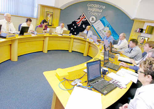 Gladstone Regional Council in session.