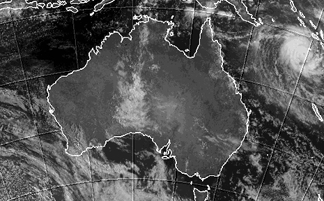 An image of Cyclone Ului from the Bureau of Meteorology.