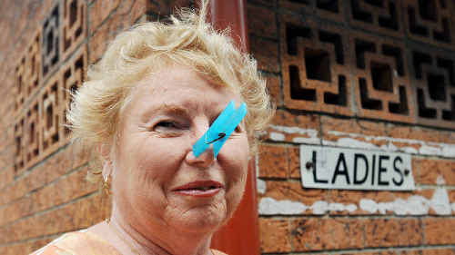 Jane Russell finds the city's public toilets are on the nose. BRUCE THOMAS