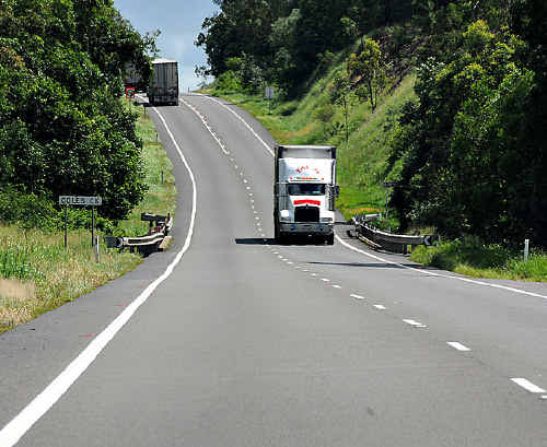 Once the Federal Government installs a median strip from Cooroy to Gympie, overtaking will be restricted to designated overtaking lanes.