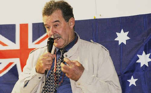 Peter Spencer, famous for his protests against the Government's Native Vegetation Act, spoke at McKees Hill last night, as part of a wider tour.