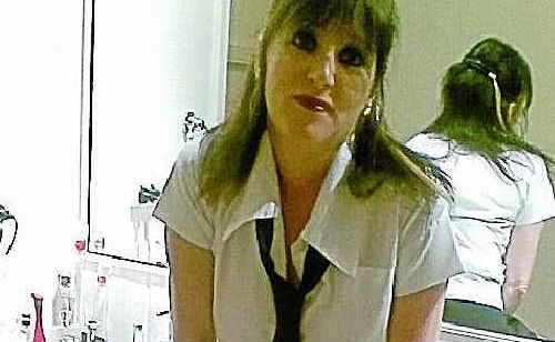One of the pictures of Warwick High School teacher Helen Casey that appeared on Facebook.