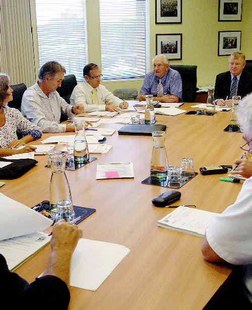 Water board: Rous Water councillors discuss water fluoridation in the region yesterday.
