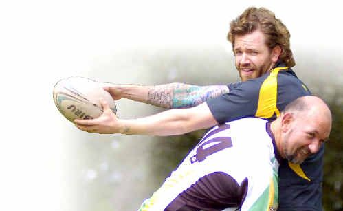 Spreading the word: Deaf rugby union players Simon Mahony (left) and David Hoffmann will welcome players from across the country to Lismore for a development camp.