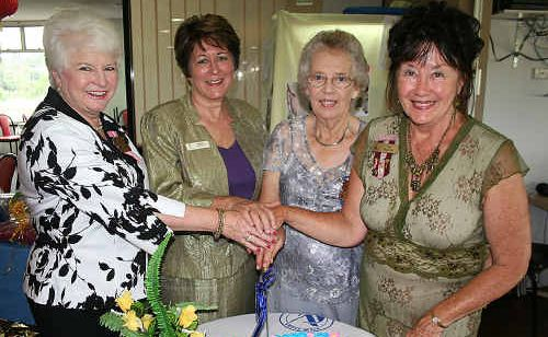 Celebrating the Alstonville Wollongbar Day VIEW Club's ninth birthday and 50 years of VIEW last Monday were (l-r) zone councillor Joy Gregor, guest speaker and Ballina councillor Sharon Cadwallader, president Delma McDonald and national councillor Jan Blanch.